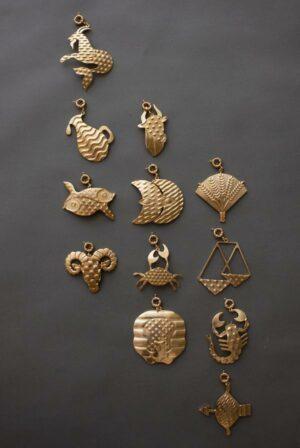 Zodiac Brass Medallion