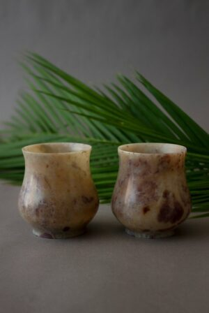 Brown Alabaster Cups