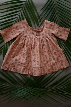 Pink Gud Pala Buta Olive Girl Dress