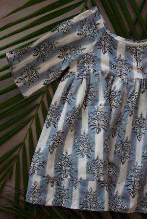 Blue Pala Buta Olive Girl Dress