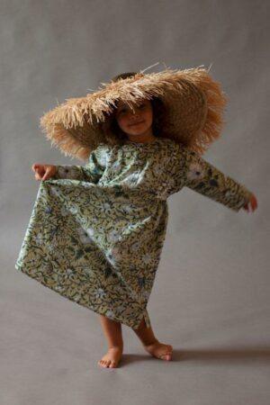 Green Ampola Girl Bhopali Dress