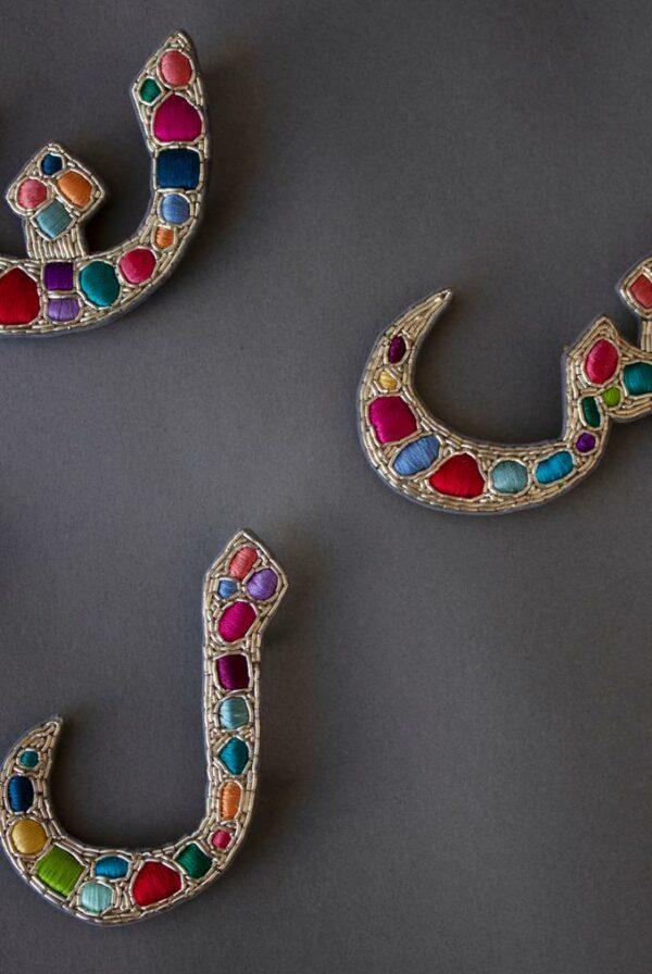 Bejeweled Alphabet Charm