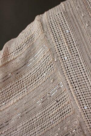 Silver & Beige Peekaboo Robe